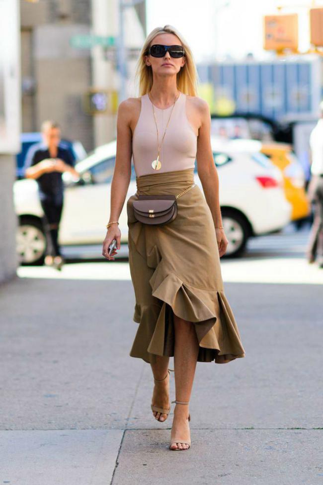 荷葉邊半裙不僅實穿度高,而且不挑身材還修飾身形 第6张