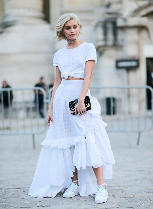 荷葉邊半裙不僅實穿度高,而且不挑身材還修飾身形 第7张