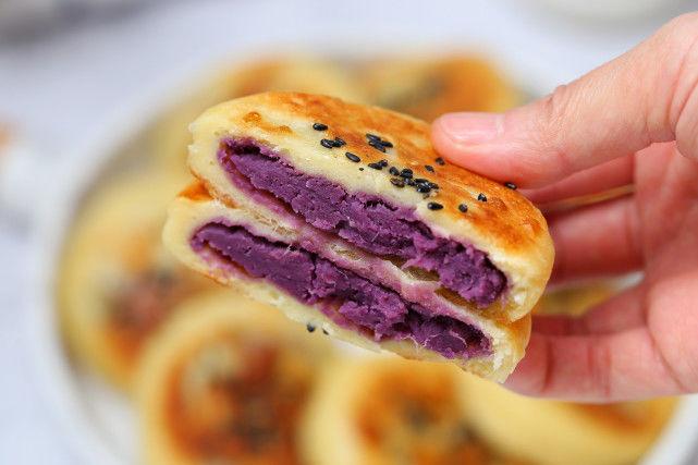 山藥紫薯餅香甜可口營養豐富,做法簡單又健康 第1张