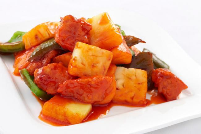 菠蘿炒肉多做一步肉吃起來滑嫩而不塞牙 第2张